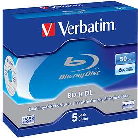 Verbatim BD-R DL 50GB 6x 5-pack Jewel Case