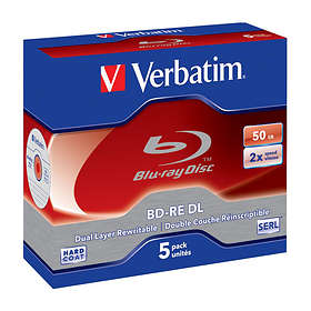 Verbatim BD-RE DL 50GB 2x 5-pack Jewel Case