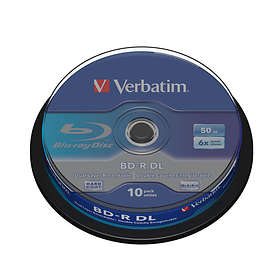 Verbatim BD-R DL 50GB 6x 10-pack Cakebox