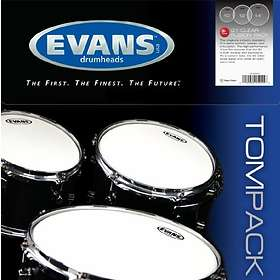 """Evans Drumheads G1 Clear Fusion Tom Pack (10-12-14"""")"""