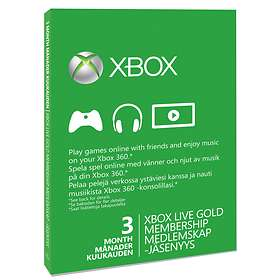 Microsoft Xbox Live Gold 3 Months Card