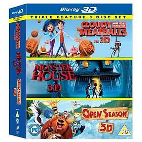 Cloudy With a Chance of Meatballs + Monster House + Open Season