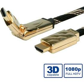 Roline Gold HDMI - HDMI High Speed with Ethernet (swivel) 2m
