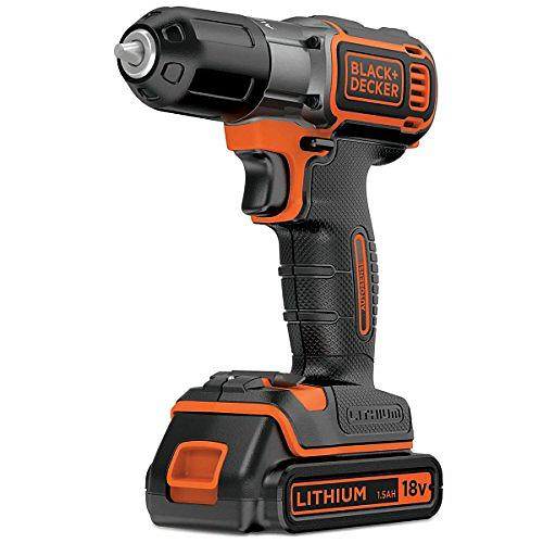 Black & Decker Drill 18V med Autosense og Autoselect