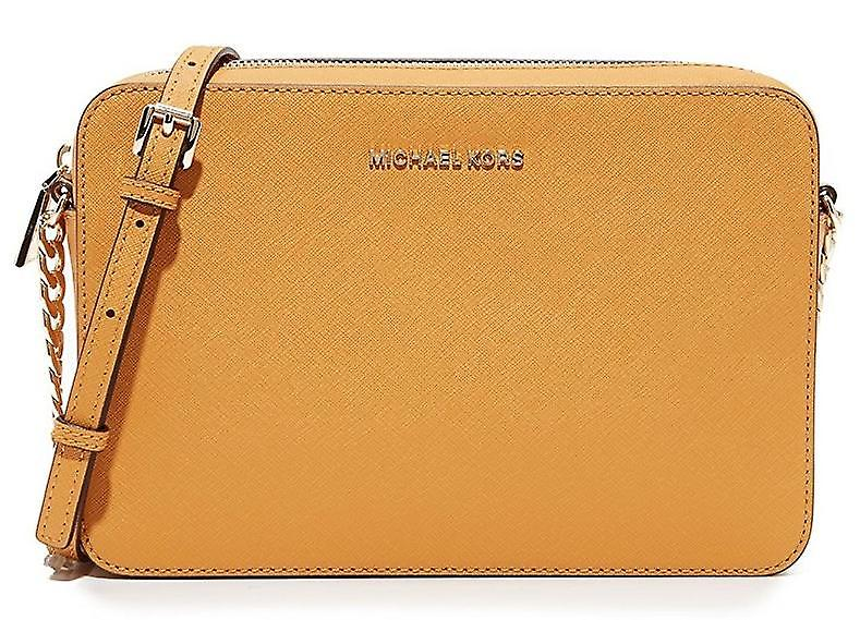 Michael Kors Jet Set Large Saffiano Leather Crossbody Bag
